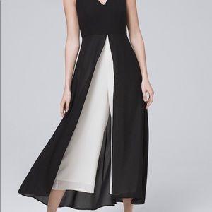 NWT WHBM Sleeveless Overlay Jumpsuit Size 2